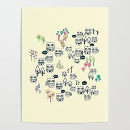 Forest Of Owls Poster