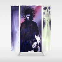 sandman Shower Curtains featuring Sandman: Triptych by kenmeyerjr