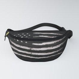 American flag White Grunge Fanny Pack