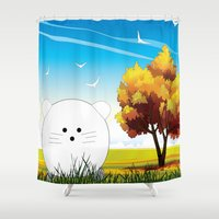 cartoon Shower Curtains featuring Cartoon mouse by Cs025