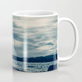 Silver Dawn on the Moroccan Coast. Seascape Photography. Coffee Mug
