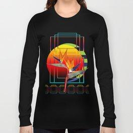 Bird of Paradise flower by sunset Long Sleeve T-shirt