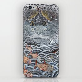 Golden Fishes iPhone Skin