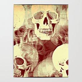 Spooky Skulls bywhacky Poster