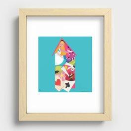 Alice in Wonderland Recessed Framed Print