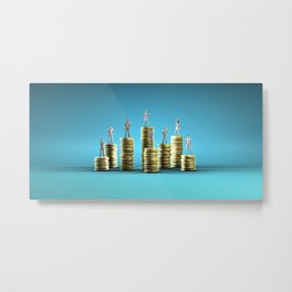 Wealth Management Services and Financial Solutions as Concept Metal Print