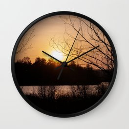 Sunset in Mont Tremblant Wall Clock