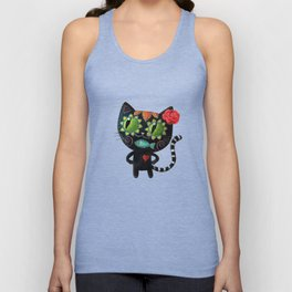 Black cat of the dead Unisex Tank Top