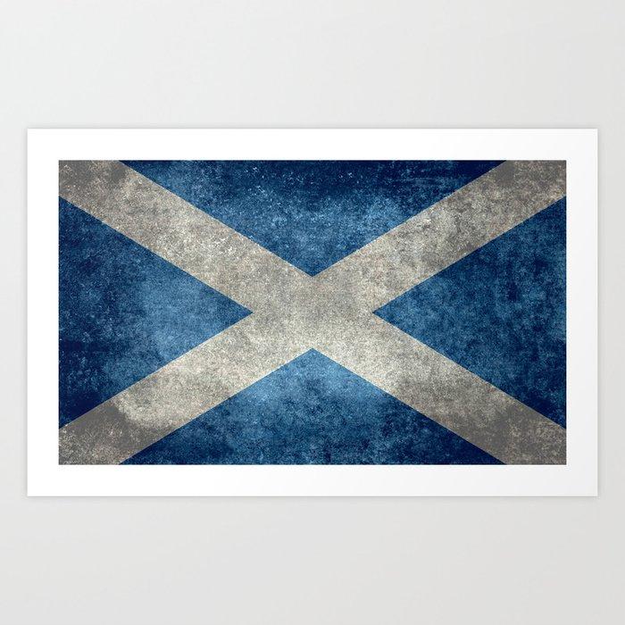 Flag of Scotland, Vintage Retro Style Kunstdrucke
