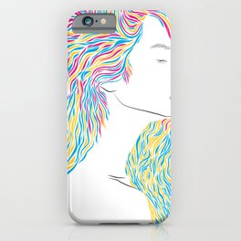 Woman Hairstyle 03 iPhone Case