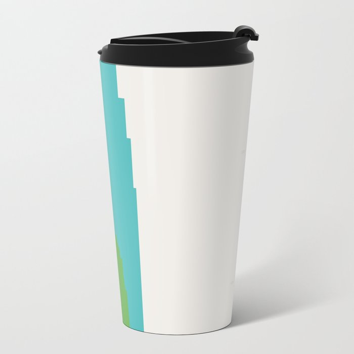Shapes of Los Angeles accurate to scale Travel Mug