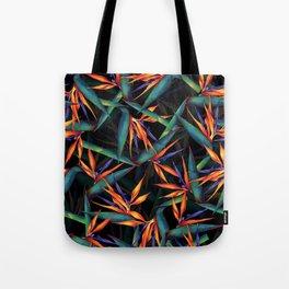 Tropical Leaf Pattern Tote Bag