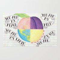 peach Area & Throw Rugs featuring Peach by Larissa