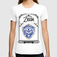 majora T-shirts featuring Zelda legend - Hylian shield by Art & Be