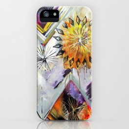 """Burn Bright"" Original Painting by Flora Bowley iPhone Case"