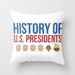History of the US President Trump Clown Gift Throw Pillow