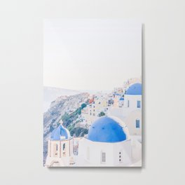 214. Santorini's View, Oia, Greece Metal Print