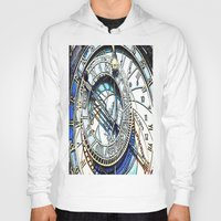 prague Hoodies featuring Prague Clock by arnedayan