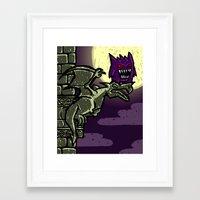 gengar Framed Art Prints featuring Gengar by Eusweesh