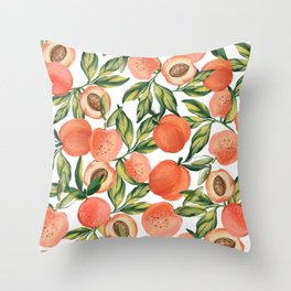 Peach Love Throw Pillow