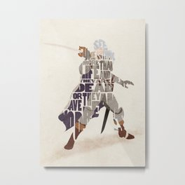 The White Falcon Metal Print