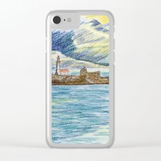 lighthouse island Clear iPhone Case