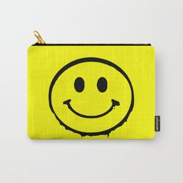 smiley face rave music logo Carry-All Pouch