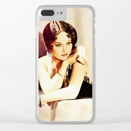 Thelma Todd, Vintage Actress Clear iPhone Case