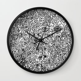 Zombies...  Pop Line art collage piece. More of The Walking Dead than you can handle! Wall Clock