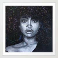 erykah badu Art Prints featuring Erykah Badu by Art Physic