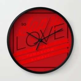 Sappy in Love Wall Clock