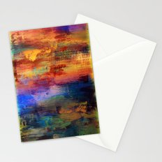 Dusk - Textured Abstract Art Stationery Cards