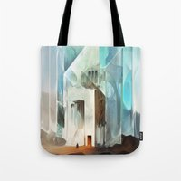 in the flesh Tote Bags featuring The Crystal-Flesh Hermitage by Mark Facey