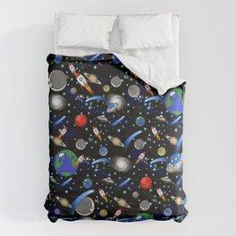 Galaxy Universe - Planets, Stars, Comets, Rockets Comforters