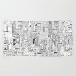 City Doodle (day) Beach Towel