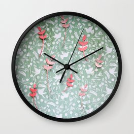 Paper Edition Color Stars Balloon Leaves Hearts Space Birds Grass Wall Clock