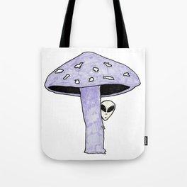 Mushroom Alien Tote Bag