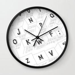 Living Keyboard Wall Clock