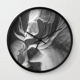 ANTELOPE CANYON XXVIII (B+W) Wall Clock