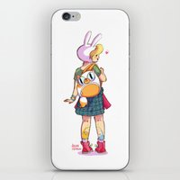 backpack iPhone & iPod Skins featuring Nice backpack! by Judith Chamizo