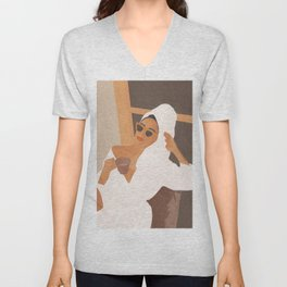 Morning Coffee Unisex V-Neck