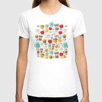 macaroon T-shirts featuring yum yum by Anna Alekseeva kostolom3000