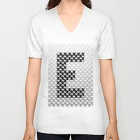 escher V-neck T-shirts featuring Escher mood by Nik Russo