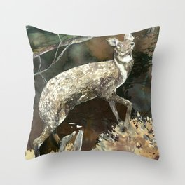 musk deer Throw Pillow