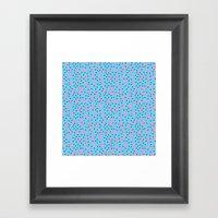 Pink Banana Peel on Baby Blue /// www.pencilmeinstationery.com Framed Art Print