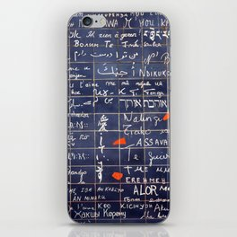 LOVE WALL iPhone Skin
