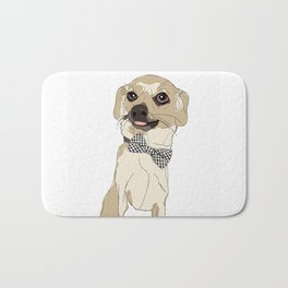 Chihuahua with Bow Tie Bath Mat