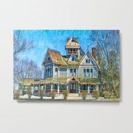 Grey Gables Mansion Metal Print