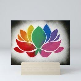 Rainbow Lotus Mini Art Print