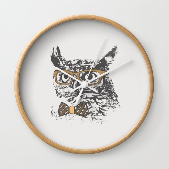 Hipsters are a Hoot Wall Clock